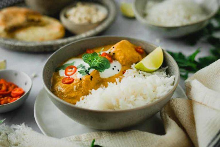 Cashew Hähnchen Curry aus dem Römertopf Rezept