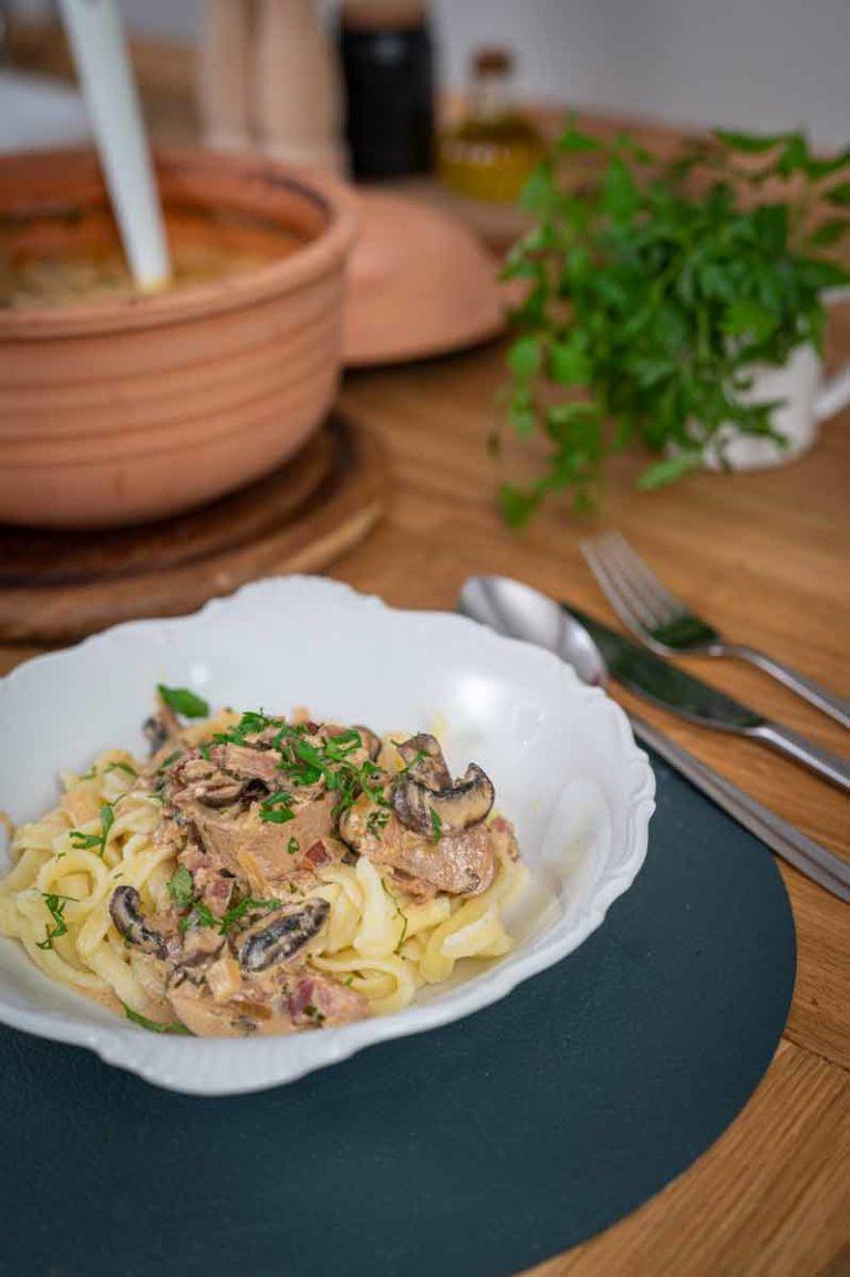 Schlemmertopf mit Schweinefilet und Pilzen aus dem Römertopf Rezept